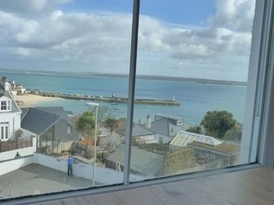 Part of the spectacular view from Flat 2, seen from the dining room table.