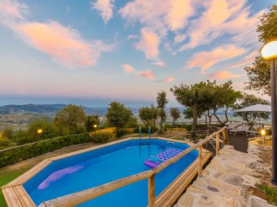 Photo for Wonderful private villa with hot tub, A/C, private pool, WIFI, TV, patio, panoramic view and par...