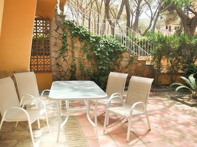 Photo for Family apartment in Platja d'Aro. Ground floor with garden and car park