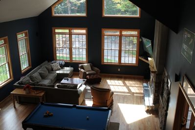 Great room, View from loft