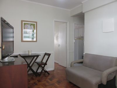 Photo for 1 bedroom apartment with balcony near the beach, in Ponta da Praia in Santos / SP.