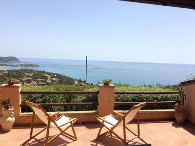 Photo for Holiday house in South Sardinia with amazing panorama on the sea
