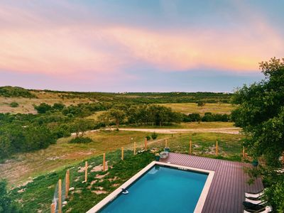 Photo for Relax at this private ranch with 3 cabins and brand new swimming pool!