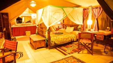 """Photo for Luxury Tent Camp Nairobi: luxury safari rooms """"in nature, with nature"""""""
