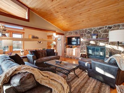 Photo for Stylish townhome w/private hot tub & foosball-near skiing, dogs OK