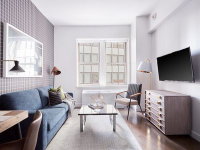 Photo for Sonder | One Platt | Airy 1BR + Rooftop