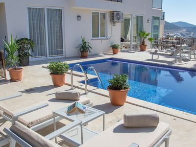 Photo for Luxury 2 bed/2 bath - Central Kalkan - own pool - large outdoor area