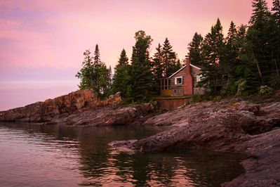 Views from Lake Superior of  the historic Finn House, from a happy guest!