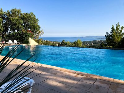 Photo for sea view apartment with pool in private residence
