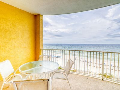 Photo for Beach front condo with sauna, Indoor/outdoor pool & spa!