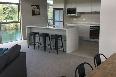 Spacious open plan living, dining and kitchen area