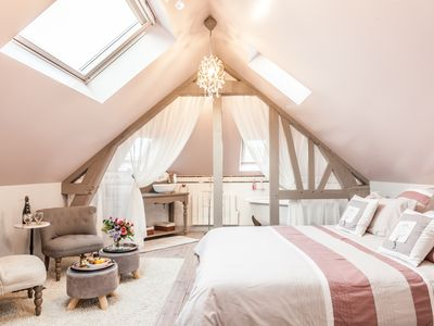 "Photo for ""In the early Happiness"" boudoir room in the heart of the historic center of Honfleur"