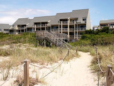 Photo for Coastal Comfort: 2 Bed/2 Bath 1st Level Oceanfront Condo with Seasonal Pool Access