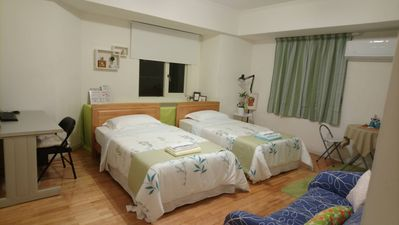 Photo for MRT Station walk 8 mins, bright, clean and big twin room for 2 persons