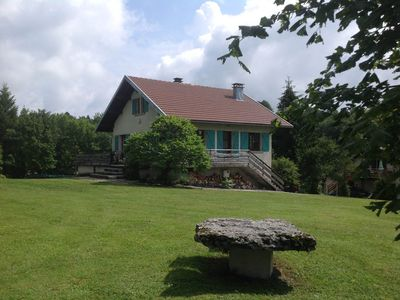 Photo for Chalet du Hérisson *** 8 people all comfort with magnificent panorama.