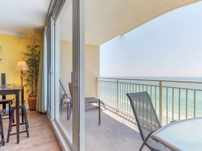 Photo for Beachfront views, pools, hot tub in a resort community - snowbirds welcome!