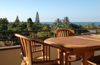 View from the lanai. The perfect place to enjoy your morning Kona Coffee!
