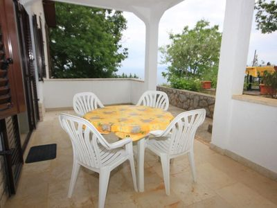 Photo for One bedroom apartment with terrace and sea view Mošćenička Draga, Opatija (A-7774-d)
