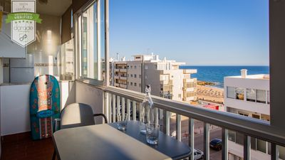 Photo for Ideal apartment for families 1 min from the beach, sea view and 4 km from Aquashow