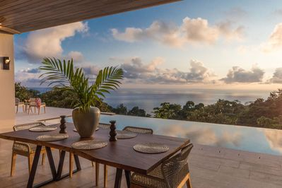 The view is amazing at this luxury villa in Dominical.