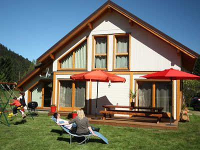 Photo for Chalet 'Le Maïdo', Gerardmer, 100m from the lake, 3 *, all comfort, calm with ground