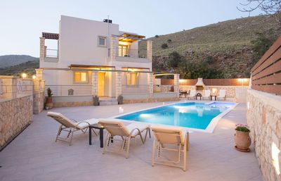 Photo for New Holiday Villa Stone & Green, 3 km From Beach+BBQ+Childrens Area! Sea Views.