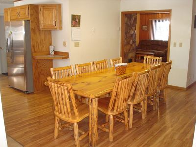 The 1st of two dining tables is great for sharing meals & stories about the day.