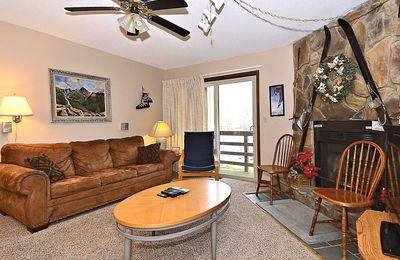 "Photo for ""Timberwolf Den"" A condo just steps from the Timberline ski lift and lodge"