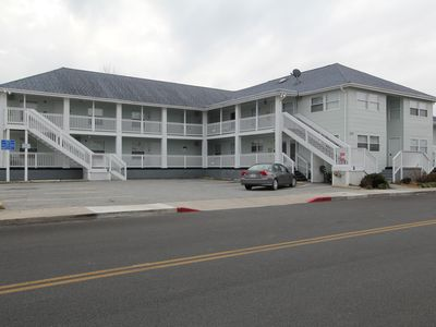 Photo for Groups welcomed! Walking distance to beach and Boardwalk with outdoor pool.