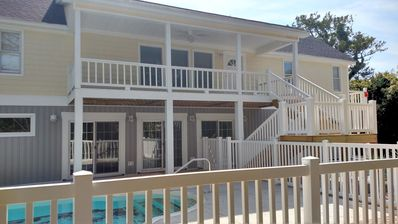 Photo for 🔹Spacious 5 bedroom Oceanside Pool House🔹 Sleeps 22🔹Steps from the Beach🔹