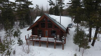 Winter at the cabin.  Photo taken by a guest.