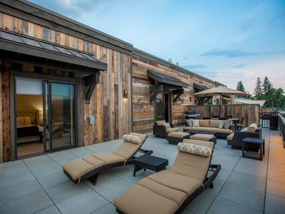 Photo for New Penthouse Suite in Downtown Whitefish! Private Hot Tub & Close to Skiing!