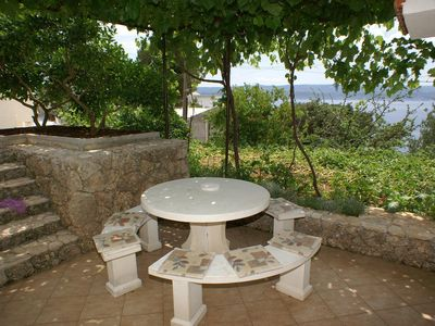 Photo for One bedroom apartment with terrace and sea view Balića Rat, Omiš (A-2753-c)