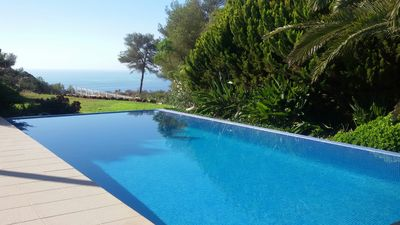 Photo for Beautiful modern & spacious villa in 1ª line sea, quiet and not overlooked