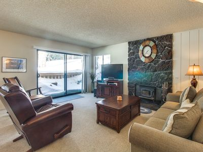 Photo for Ski in winter or golf in summer from this condo w/ shared pools, hot tub & more!