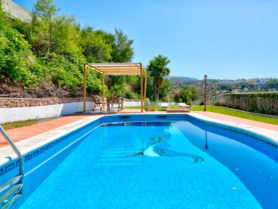 Photo for Coastal villa w/ private pool, garden terrace & stunning views - close to town!