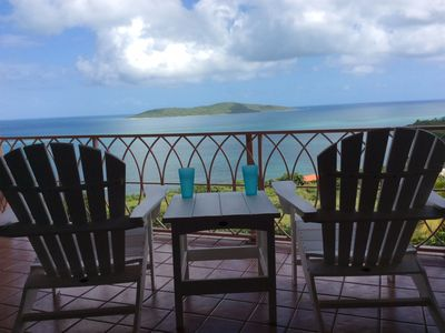 Photo for Come enjoy the amazing view of the azure Caribbean waters and famous Buck Island