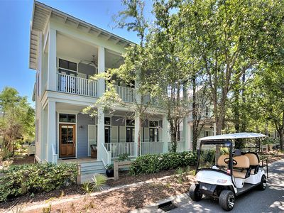 Photo for 'Sea Star' A Pet Friendly 5 Bedroom Home + 6 Seater Golf Cart + 4 Adult Bikes!