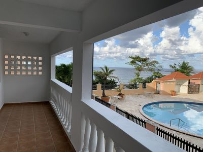Photo for Spectacular Ocean Front Villas w balcony fully equipped, steps from Jobos Beach