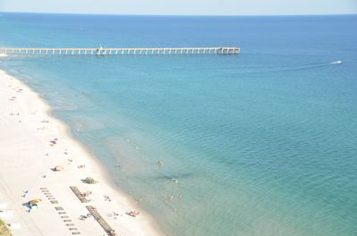 Breathtaking View of the Pier from the Private Balcony of the condo