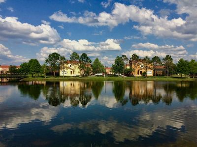 Photo for Lakeside Townhome near Disney with hot tub