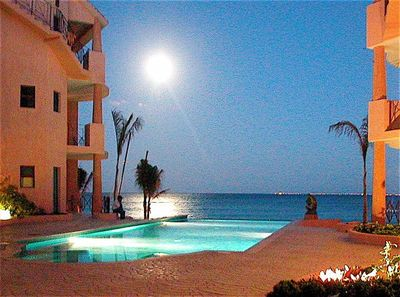 Moonrise over the Caribbean