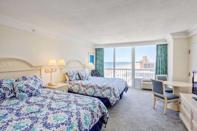 Spacious suite with ocean sunrise and river sunset views!