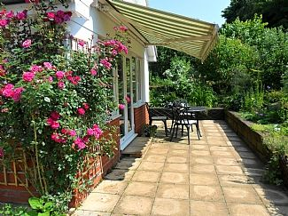 Patio Area with Electric Awning