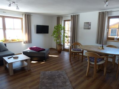 Photo for Cozy apartment with panoramic views of mountains and Neuschwanstein Castle