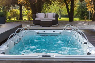 The Swim Spa, swim against the current or simply relax