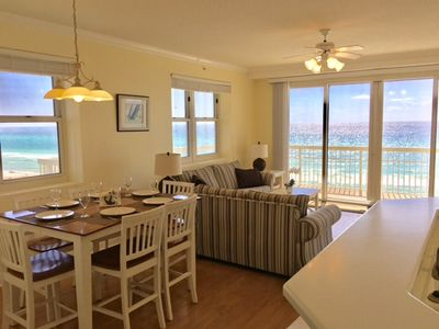 Photo for 3BR/3BA End Unit: 4'th floor!! Wrap around Balcony, Beach Service!