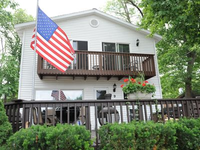Roomy three bedroom two bath private home with lake view/access. ORV friendly!