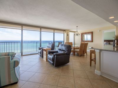 Photo for Beach Front Condo! floor to ceiling windows!  Pet friendly! BEACH CHAIRS👍👍