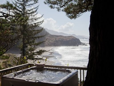 Photo for The Nautilus House ~ Stunning Oceanfront Views, hot tub & private beach